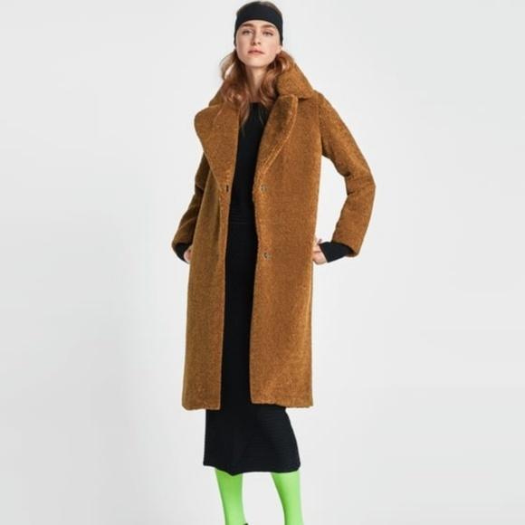 Zara Jackets Amp Coats Teddy Coat Poshmark